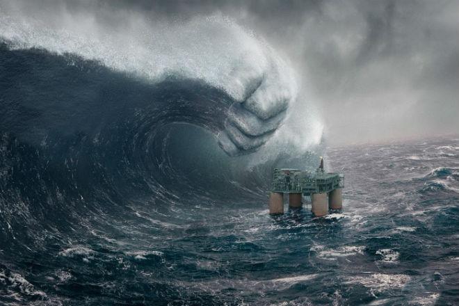 12-балльный шторм с борта сухогруза