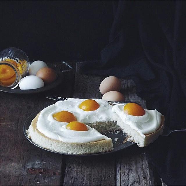 """Пирог """"Яичница"""" выпечка, красивая еда, кулинария, пироги"""