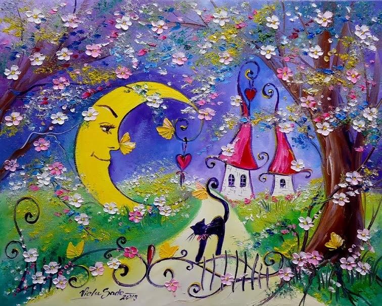 И пусть цветут сады сердец любимых наших. Польская художница Viola Sado