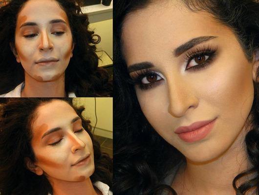 Как с помощью косметики сделать уже лицо