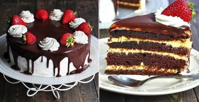Шоколадный торт «Соблазн»для шокоголиков, с потрясающе вкусным бисквитом.