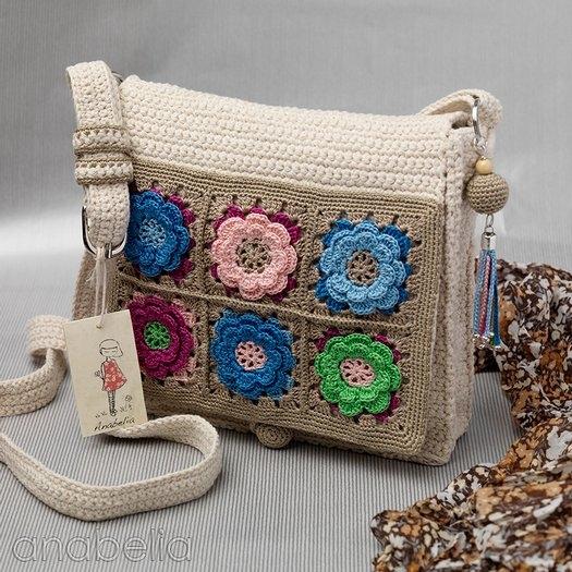 фото вяжем стильную сумочку из мотивов крючком