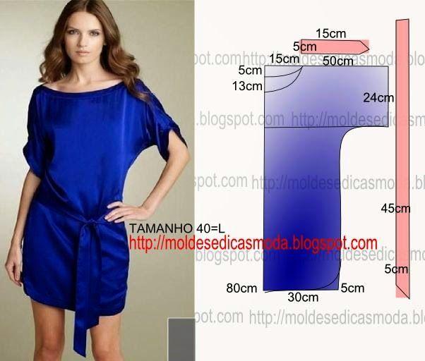 Moldes Moda POR Medida: Платье Facil DE FAZER - 27