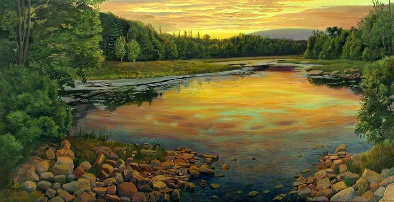 Жить в  гармонии с  закатом. Реалистичные пейзажи художника Артура Чартова