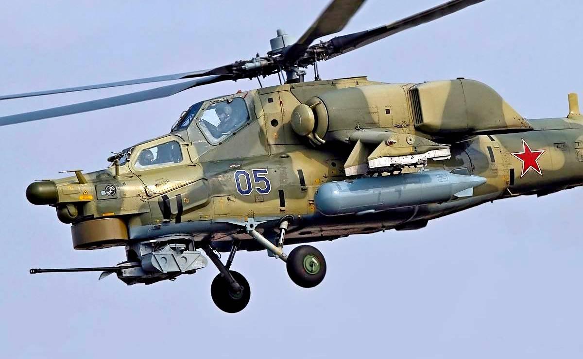 «Ночные охотники» ищут добычу.  Ми-28Н - основной  боевой  ударный вертолет ВВС России