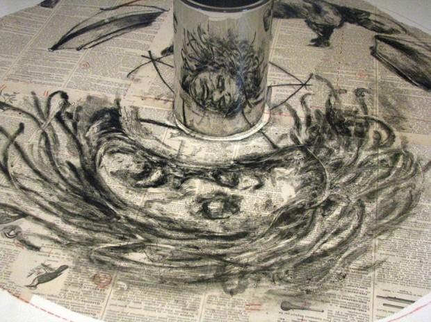 Рисунки, которые можно увидеть только в цилиндре рисунки, художник