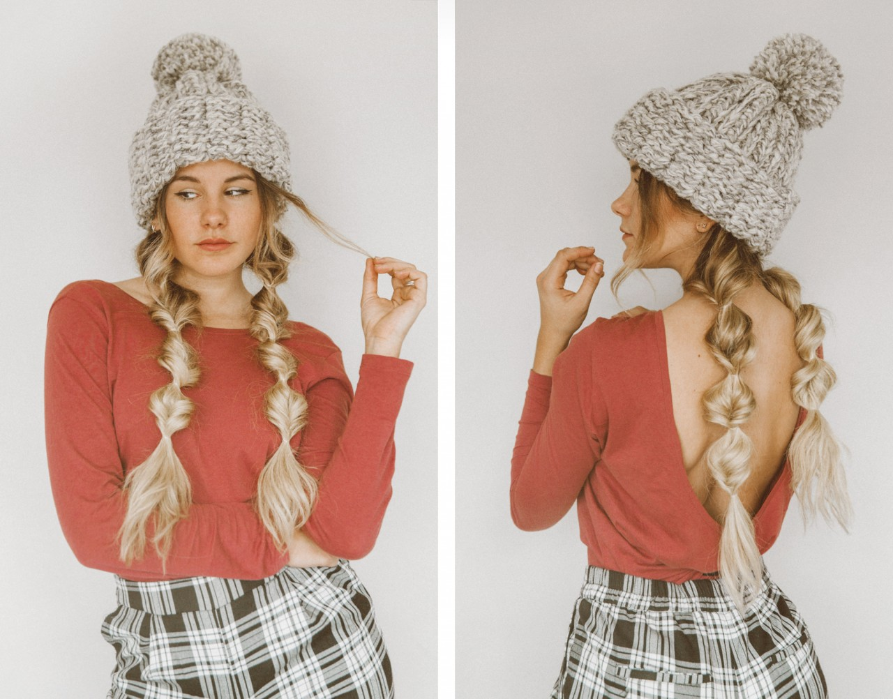 Tutorial: Winter Hat Hairstyle