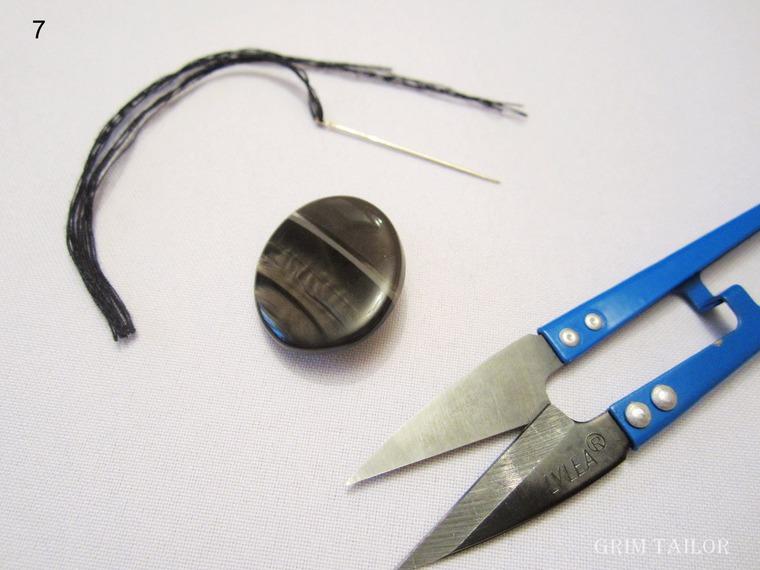 Как пришить пуговицу в один прокол