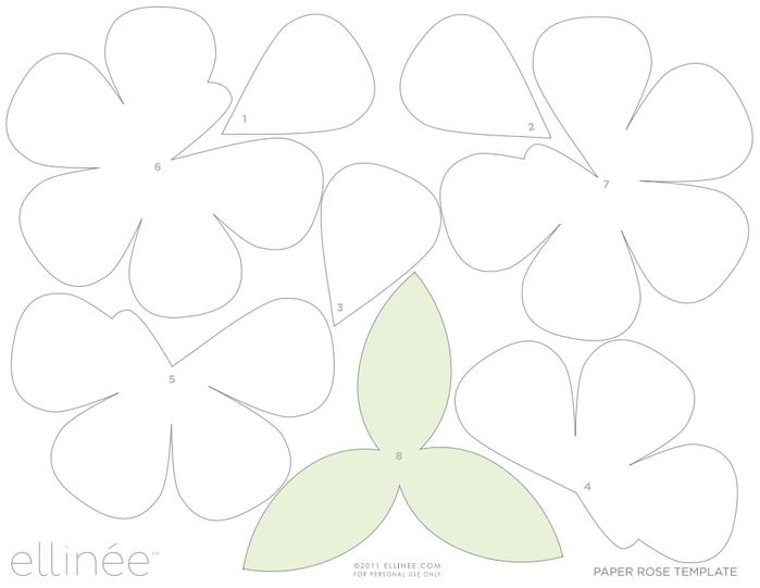 Объёмные цветы из бумаги своими руками шаблоны
