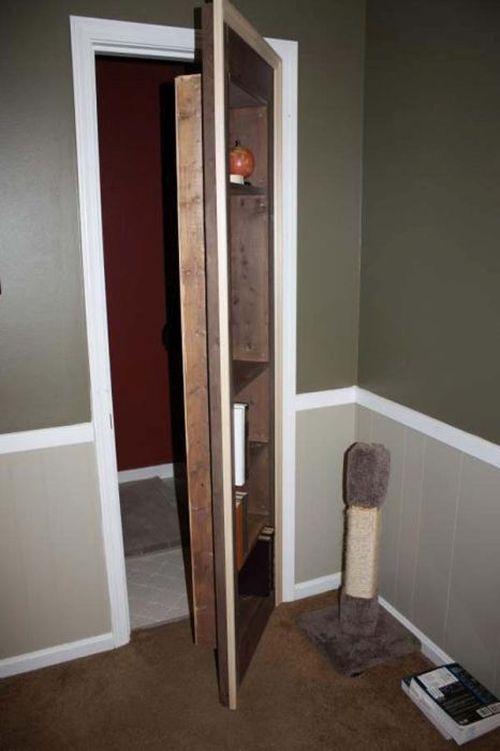 Как сделать потайную дверь своими руками