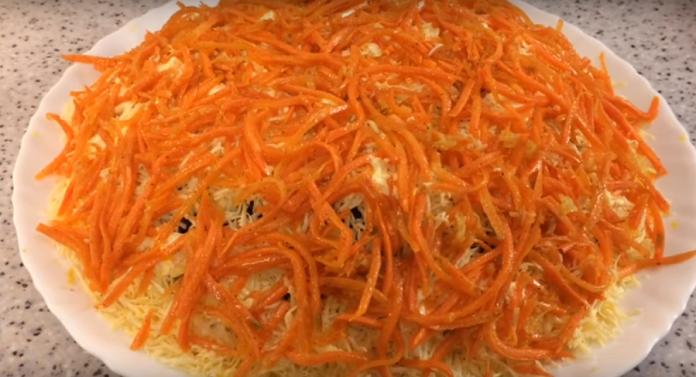 Праздничный салат «Морковкин блюз». Сметут со стола первым