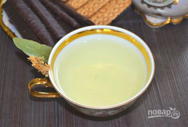 Липовый чай с медом