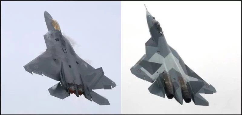 Американцы сравнили Т-50 и F-22 «Раптор»