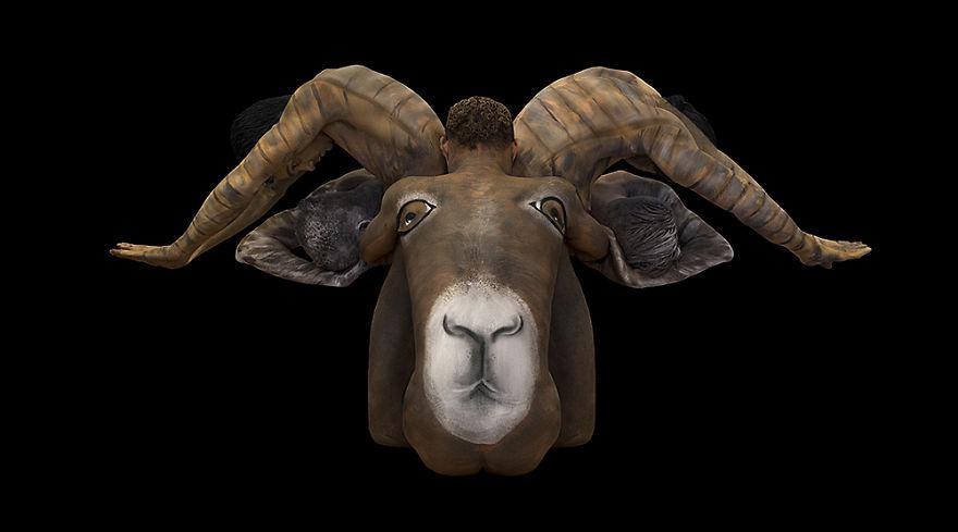 Боди-арт в виде знаков зодиака