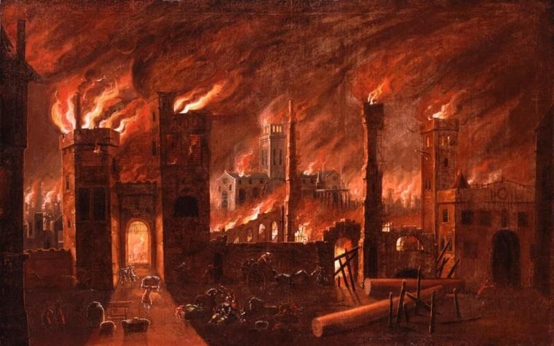 4. Великий лондонский пожар город, интересное, история, люди, мир, разрушение, событие, фото