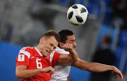 Сборная России ведет со счетом 3:1 в матче с Египтом