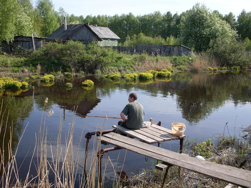деревенская рыбалка