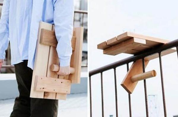 Переносной столик для балкона