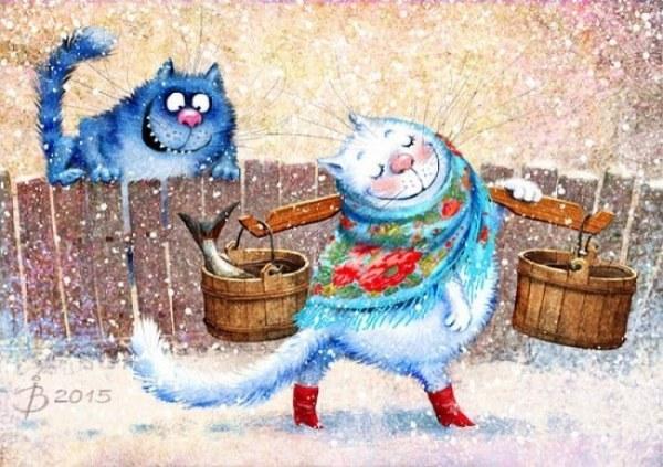 Причудливый мир синих котов