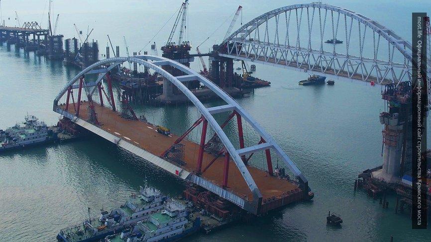 Строители показали на видео, что ждет автодорожную арку Крымского моста: опубликован мультфильм о стройке века