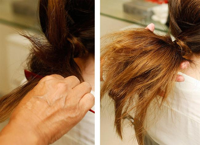 Прически на неровные волосы