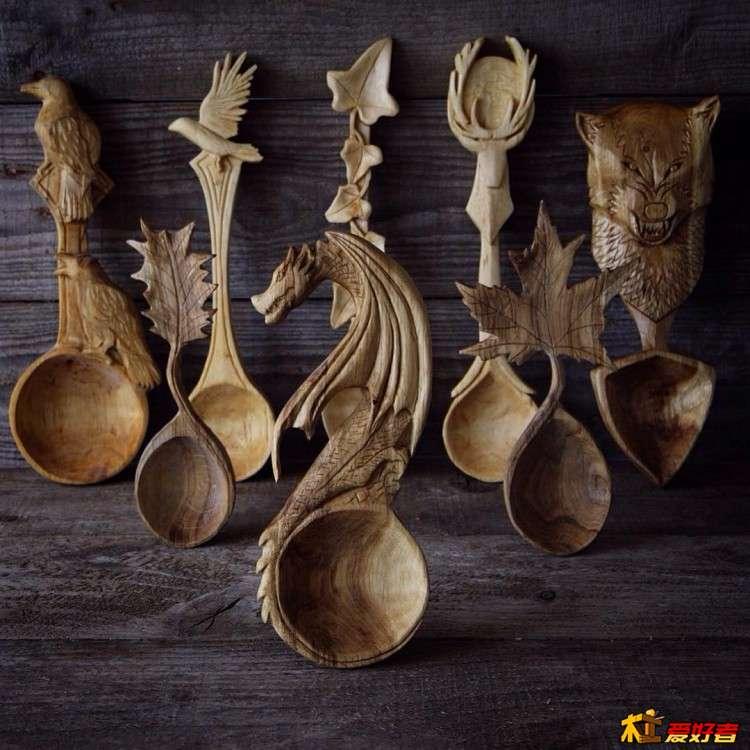 Вот такие деревянные ложки от Джайлса Ньюмана