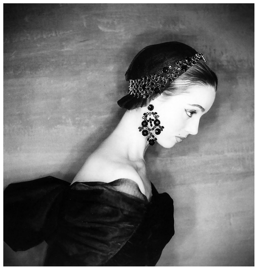 Elsa Martinelli wearing fashion by Givenchy, Paris, British and American Vogues, September 1954 Photo Clifford Coffin.jpg