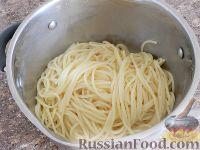 Фото приготовления рецепта: Спагетти в тыквенном соусе с беконом - шаг №14