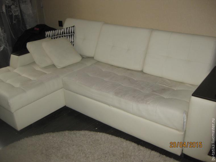 Знакомьтесь, мой чудовищный диван после обивки