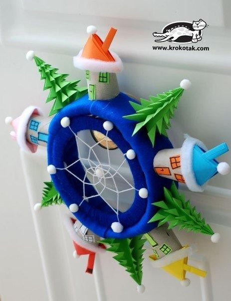 Новогодний ловец снов для детской