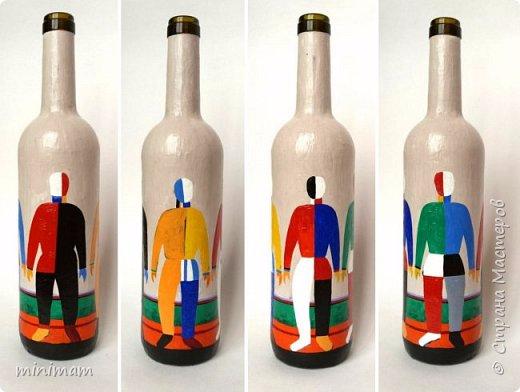 Декоративные бутылки. Роспись акрилом