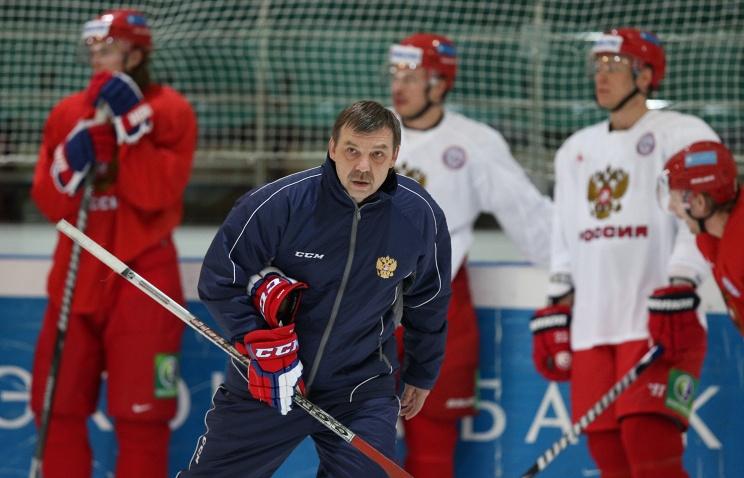 ТАСС: Олег Знарок на Кубке Первого канала планирует наигрывать состав сборной России к ЧМ-2015
