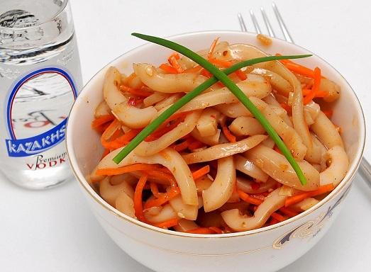 закуски из кальмара рецепты фото