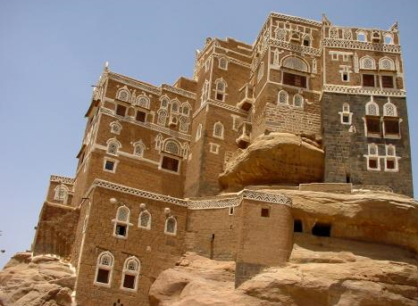 14. Дворец на скале, Йемен дом, идея, проект