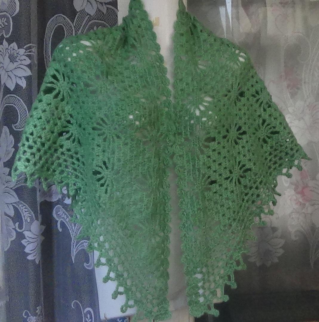 Вязание крючком косынки берсанова