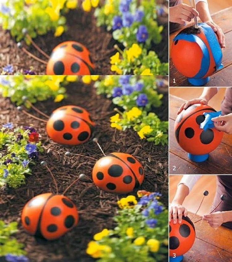 Украшения для сада своими руками оригинальные