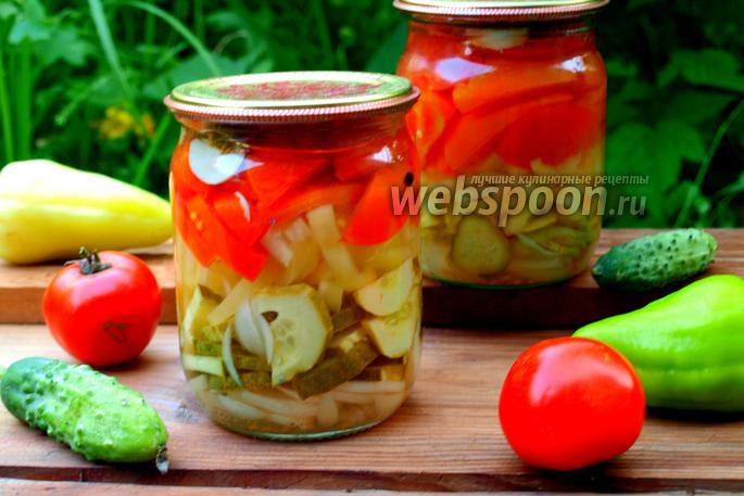 Салат из перцев огурцов и помидор на зиму рецепты с
