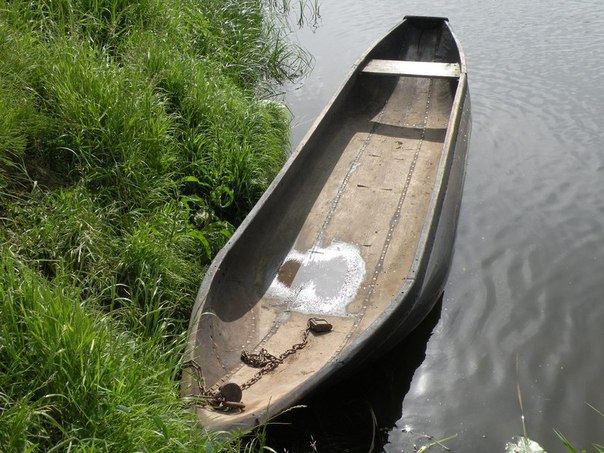 древнерусская лодка долбленка