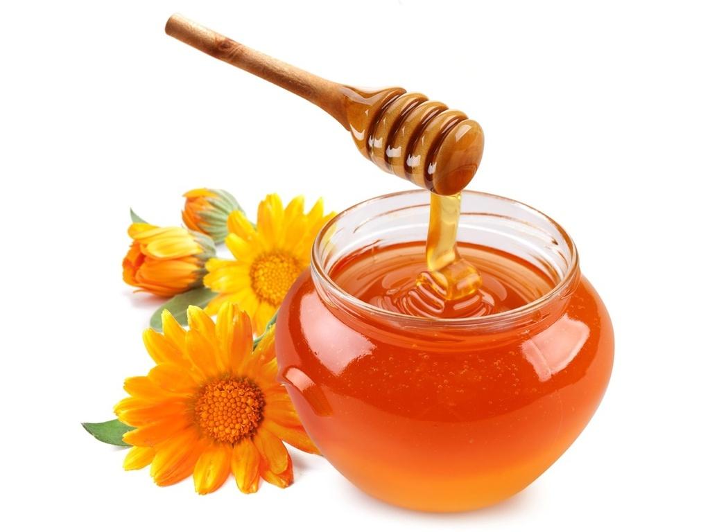 mel, colher, madeira, pote, flores, alaranjado, foto, papel de parede, imagem # 12419303 - a-matata.ru