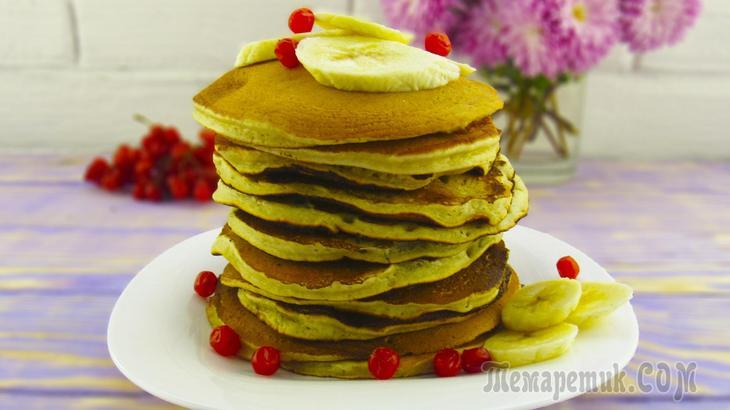Банановые панкейки | Как приготовить вкусный и быстрый завтрак