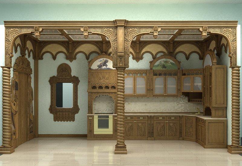 Современный интерьер в русском стиле