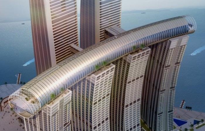 В Китае строится первый в своем роде «горизонтальный небоскрёб»