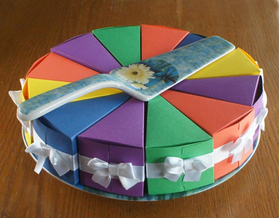Коробочка тортик своими руками