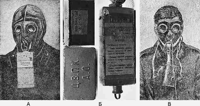 Фильтрующий угольный противогаз Зелинского-Кумманта война, история, факты