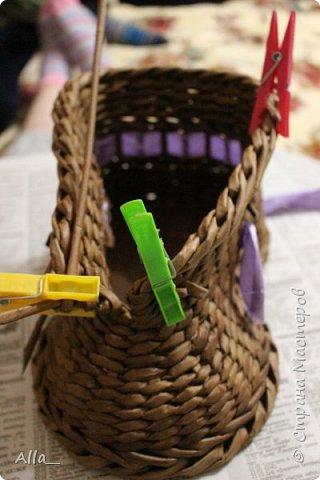 Мастер-класс Поделка изделие Плетение Как я делаю башмак Трубочки бумажные фото 15