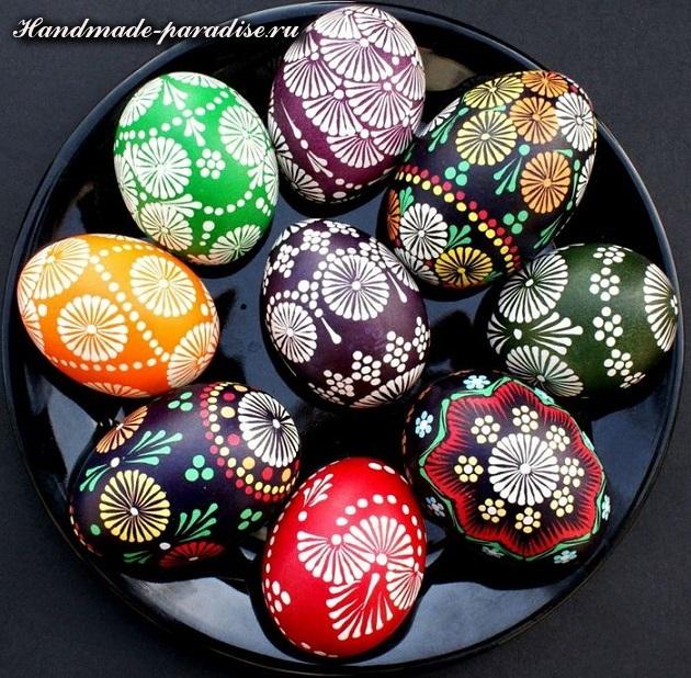 Роспись пасхальных яиц горячим воском. Мастер-класс
