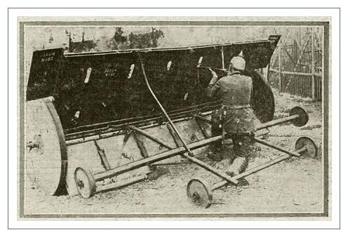 А это уже более полезная штука. Такие штуки пытались использовать во всех армиях, участвовавших в той войне. Но по каким-то причинам они не прижились
