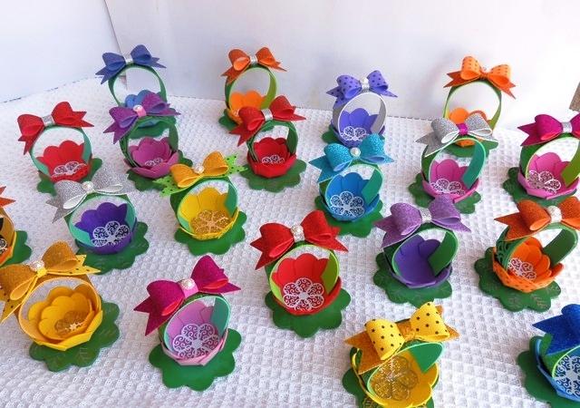 Цветочные корзинки из фоамирана