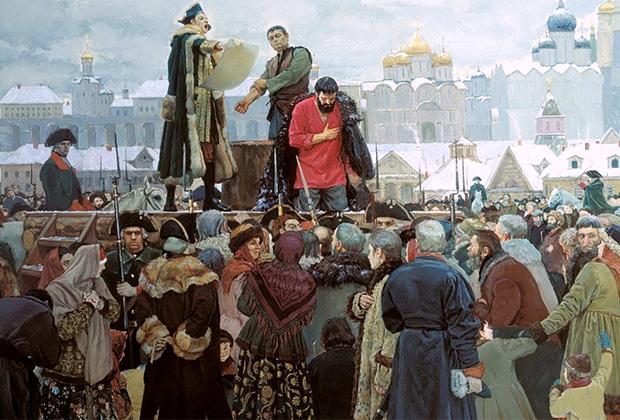 Картина Виктора Маторина «Прости, народ православный»