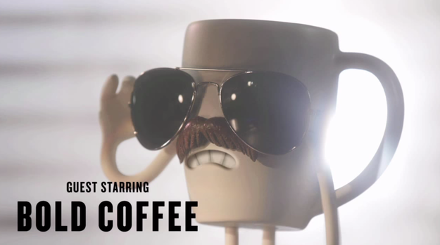 """The New Face Of Denny's: """"A Bold Cup Of Coffee With A Dark Mustache"""""""